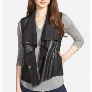 NWT leather and suede vest